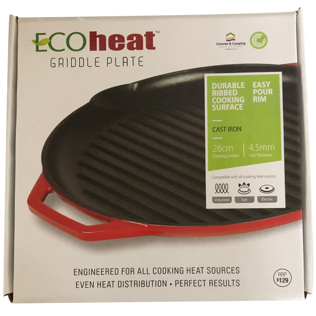 Ecoheat griddle plate