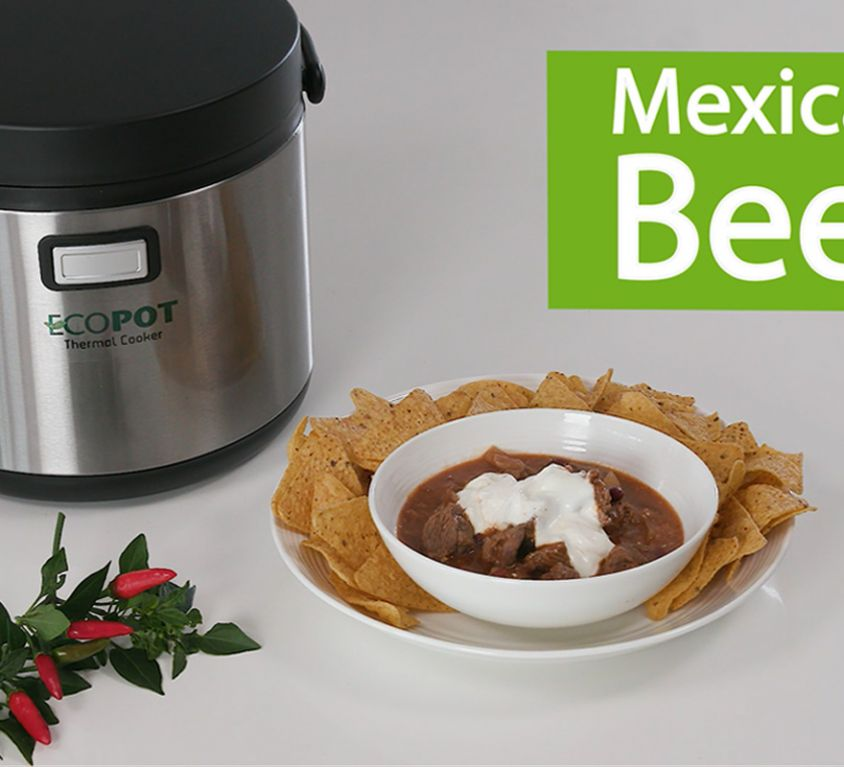 Ecopot thermal cooker - video recipe: Mexican Beef