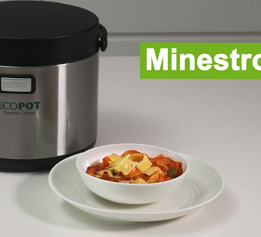 Ecopot thermal cooker - video recipe: Minestrone
