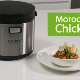 Ecopot thermal cooker - video recipe: Moroccan Chicken