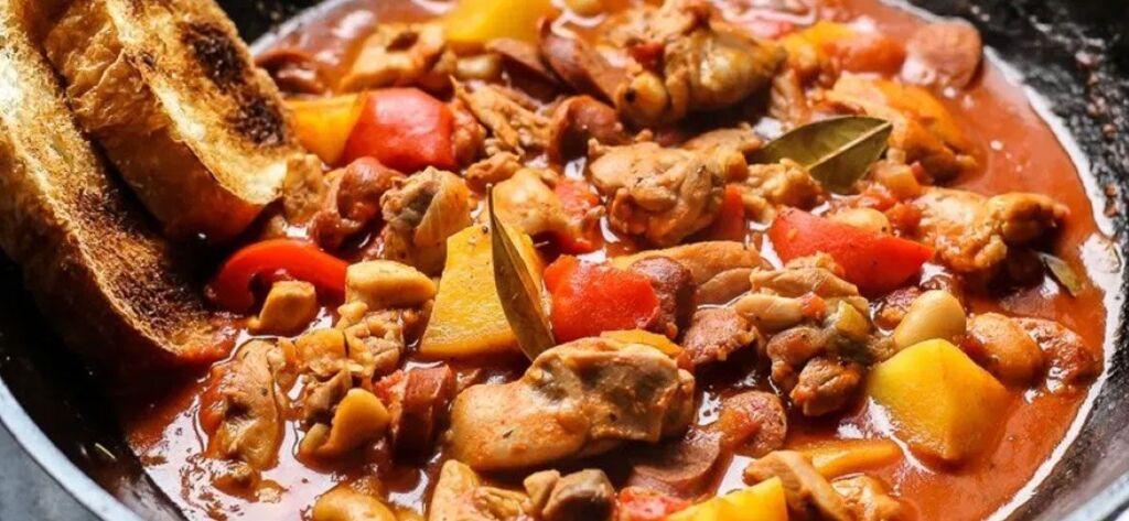 Chicken, bacon and chorizio casserole