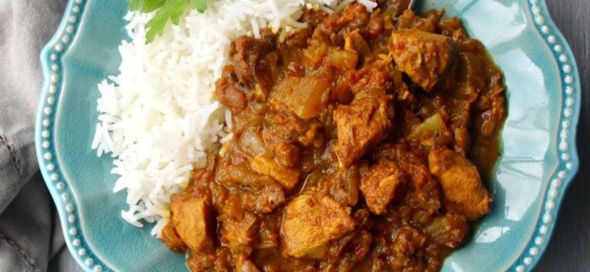 Malaysian chicken curry and rice