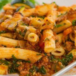 Vegetarian mince pasta
