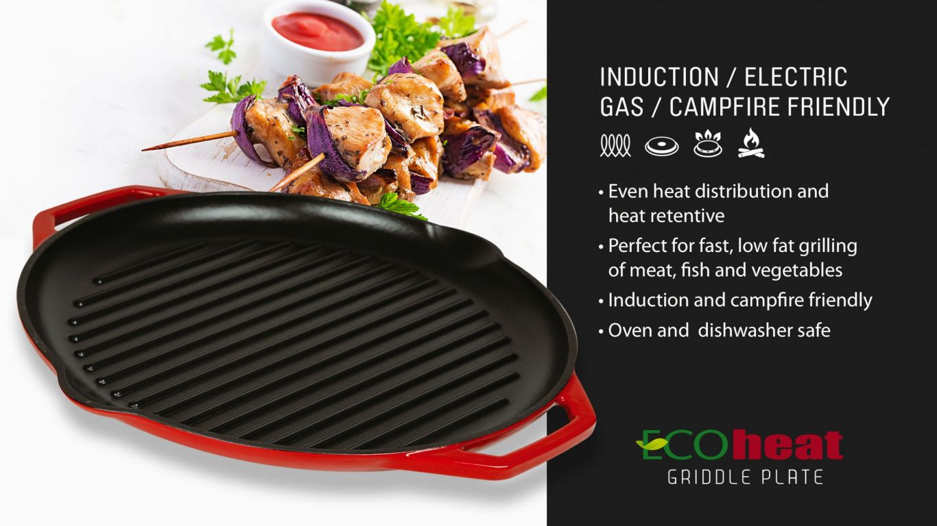 Griddle Plate for Inductions and other cooktops